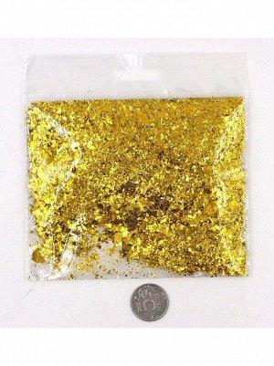 Конфетти Дробленые 13-15 гр цвет золотой Китай