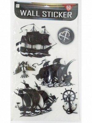 Наклейка объемная Пиратская 6 элементов