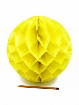 Подвеска объемная бумажная Шар соты 30 см цвет желтый HS-21-18