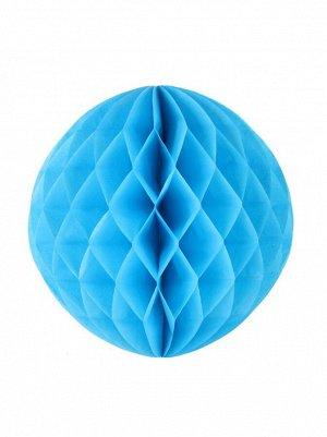 Подвеска объемная бумажная Шар соты 35 см цвет голубой