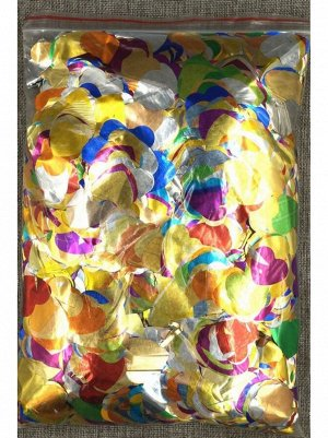 Конфетти Сердца 3 см фольга 1000 гр цвет МИКС