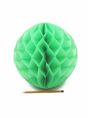 Подвеска объемная бумажная Шар соты 30 см цвет зеленый HS-21-18
