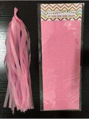 Помпон тассел бумага тишью розовый