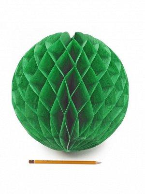 Подвеска объемная бумажная Шар соты 30 см цвет темно-зеленый HS-21-18