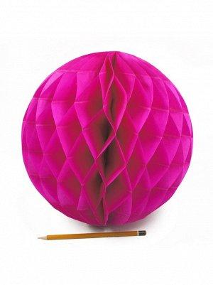 Подвеска объемная бумажная Шар соты 30 см цвет темно-розовый HS-21-18