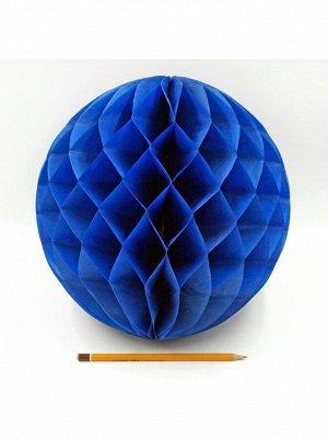 Подвеска объемная бумажная Шар соты 30 см цвет темно-синий HS-21-18