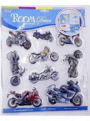 Наклейка объемная Мотоциклы