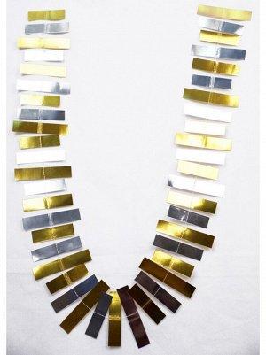 Гирлянда Полоски 188 см бумага цвет золото/серебро HS-21-8