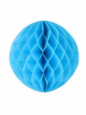 Подвеска объемная бумажная Шар соты 15 см цвет голубой
