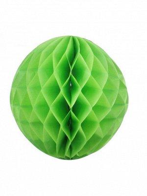 Подвеска объемная бумажная Шар соты 25 см цвет зеленый