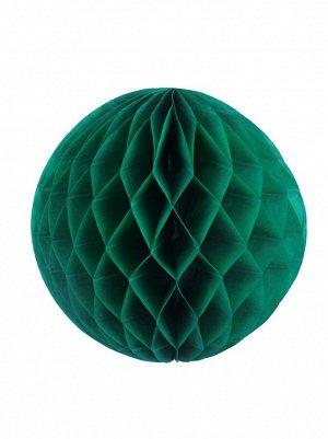 Подвеска объемная бумажная Шар соты 35 см цвет темно-зеленый