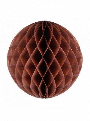 Подвеска объемная бумажная Шар соты 10 см цвет коричневый