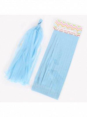 Помпон тассел бумага тишью светло-голубой