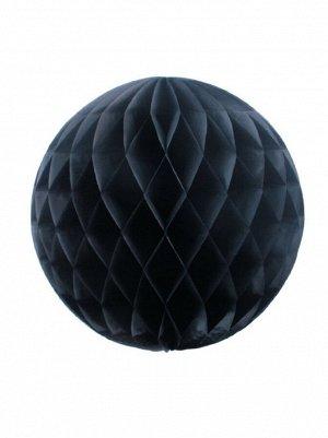 Подвеска объемная бумажная Шар соты 25 см цвет черный