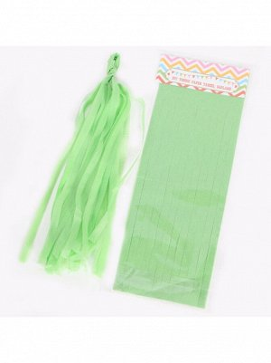 Помпон тассел бумага тишью зеленый