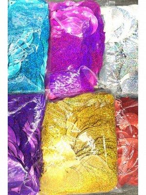 Конфетти Сердце 7 х 8 см голография 500 гр цвет МИКС