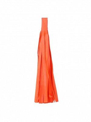Помпон тассел бумага тишью оранжевый