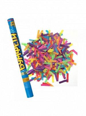 Хлопушка 60 см конфетти бумага