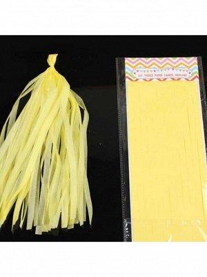 Помпон тассел бумага тишью желтый