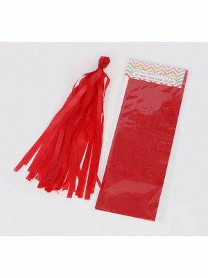 Помпон тассел бумага тишью красный
