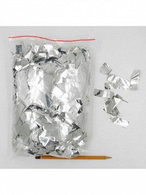 Конфетти прямоугольник 5 см фольга 500 гр цвет серебрянный HS-20-2