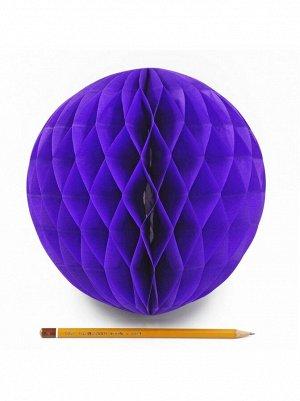 Подвеска объемная бумажная Шар соты 20 см цвет фиолет