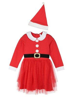 Комплект Сезон: Осень, Зима, Весна  Цвет: красный, белый  Год: 2020 Новогоднее карнавальное платье • мягкий комфортный трикотаж с высоким содержанием хлопка 95% • благодаря наличию эластана в составе