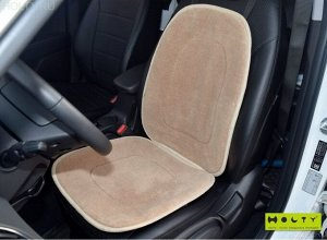 Накидка на сиденье автомобиля из шерсти (бежевая)
