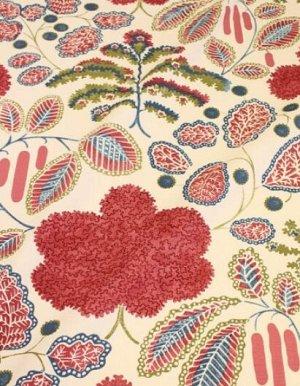 """Интерьерный хлопок """"Прохлада (бордовые цветы)"""", ш.1.5м, хлопок-100%, 250гр/м.кв"""