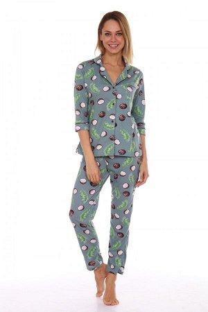 Пижама женская ML-Классика(кокос)
