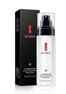 Спрей фиксатор для макияжа Silver Shine Watery Makeup 100 ml с жемчужной пудрой
