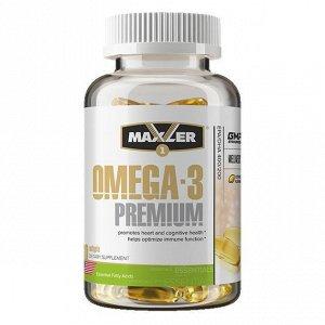 Омега 3 (Рыбий жир) MAXLER Omega-3 Premium 65% - 60 капсул
