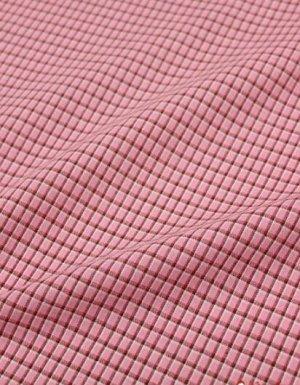 """Пестрядь """"Средняя двухцветная клетка на розовом"""", шир.1.48м, хлопок-100%, 130гр/м.кв"""