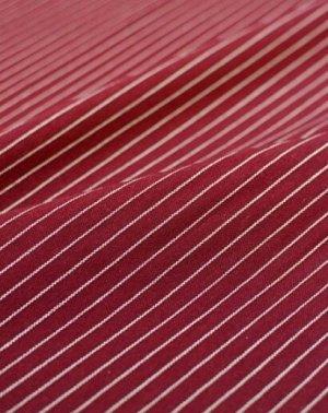 "Пестрядь ""Средняя полоска на вишневом"", ш.1.42м, хлопок-95%, п/э-5%, 165гр/м.кв"