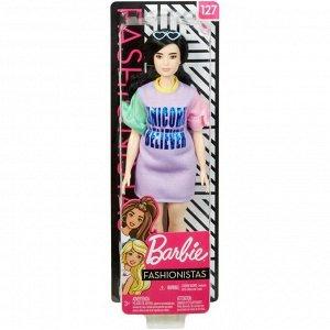 Кукла Mattel Barbie из серии Игра с модой Брюнетка в спортивном платье4