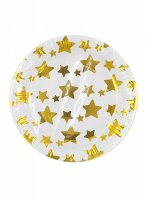 Тарелка бумага Звезды золото набор 10 шт 18 см