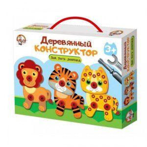 "Конструктор деревянный ""Лев, тигр, леопард"" арт.02858"