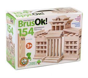 Конструктор деревянный BrusOк! 154 эл арт.02948