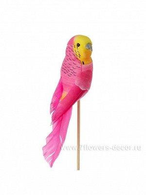 Попугай на вставке 14;5 х 50 см цвет Розовый пластик Арт.К40586