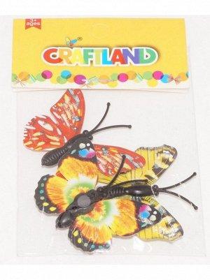 Бабочки на магните 4;5 х 3;5 см  3шт