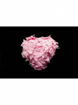 Сердце декоративное ткань 21см цв Розовый