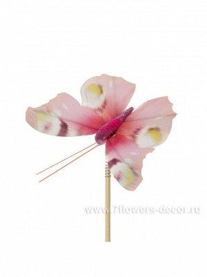 Бабочка Auralia на вставке 8 х 50 см цвет Розовый Арт.К40594