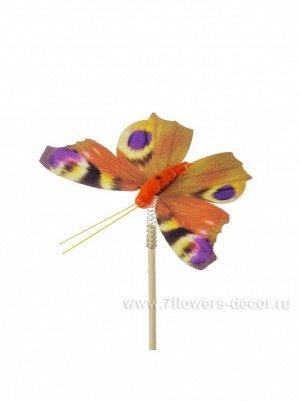 Бабочка Auralia на вставке 8 х 50 см цвет Оранжевый Арт.К40595