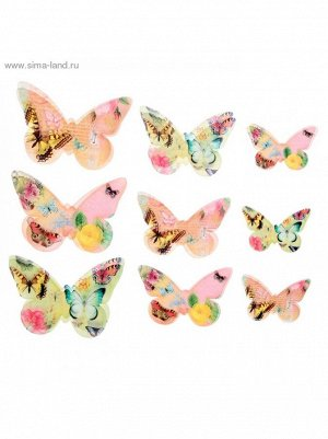 Набор декоративных бабочек Мечта 18 шт (5;5*3;5см; 7;5*5;5см; 9;5*6см)