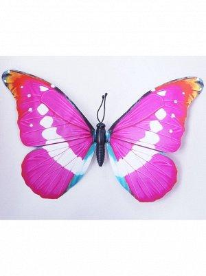 Бабочка на магните 40 см бумага проволочный каркас