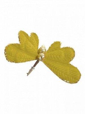 Бабочка 14 х 17 х 9 см темный бархат/полиэстр   новый год