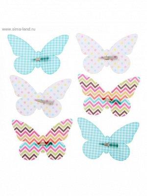 Набор декоративных бабочек Фантазия на заколках 16;5 х 11;5 см