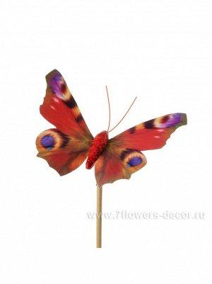Бабочка Auralia на вставке 8 х 50 см цвет Красный Арт.К40595