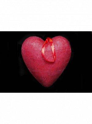 Сердце подвеска пластик 29;5*28;5*6;5см цв Красный