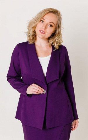 Жакет Цвет: фиолетовый Коллекция: Осень/Зима Состав: 68% вискоза. 27% нейлон, 5% спандекс Длина: от 71 см